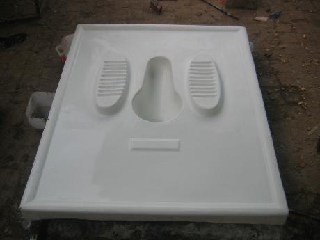 Fiberglass latrine slab