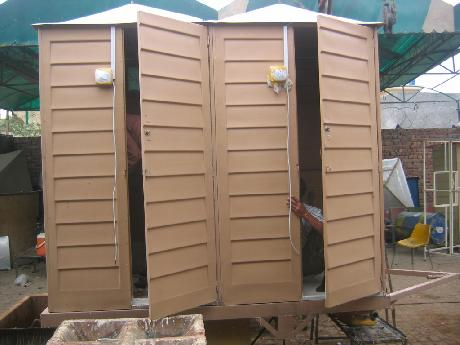Fiberglass wash room