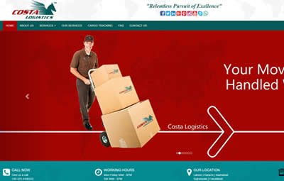 web secreenshort of Costa-Logistics-Packers-&-Movers Lahore