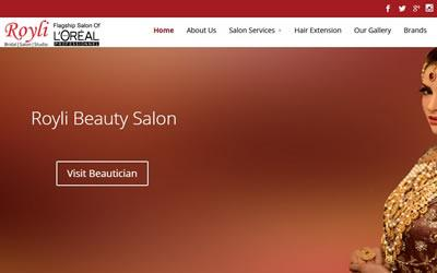 web secreenshort of Royli-Beauty-Salon Islamabad